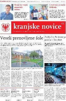 Kranjske novice Avgust 2020, ŠT. 3  naslovnica