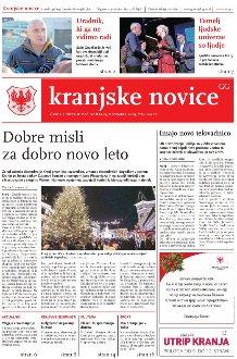 Kranjske novice December 2019 / številka 12 naslovnica