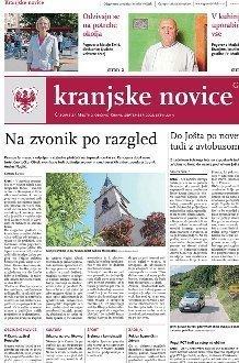 Kranjske novice September 2021 naslovnica