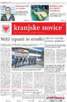 Kranjske novice September 2019 / številka 9 naslovnica