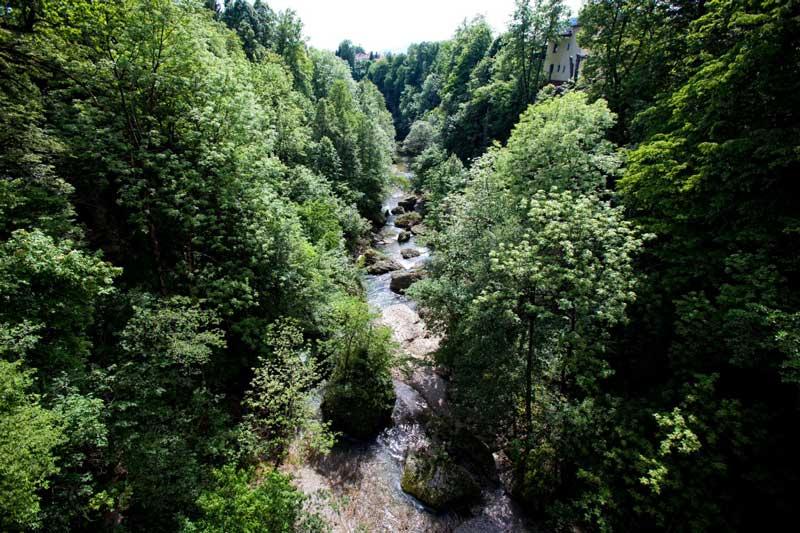 Kanjon reke Kokre v Kranju